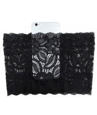 Black Garter with Phone Pocket