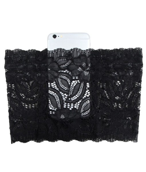 Black Garter with Phone Pocket