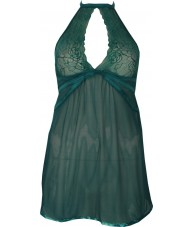 Sexy Green Chiffon Babydoll with Tie Up Neck