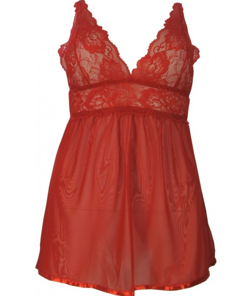 Red Babydoll Classically Sexy Open Backed