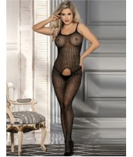 Medium Weave Full Length Black Bodystocking