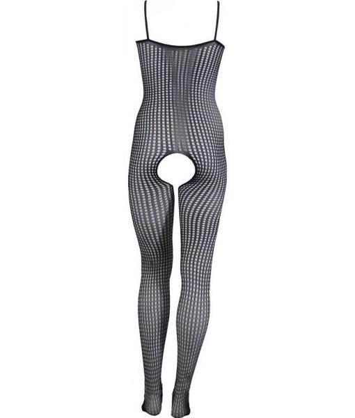 Medium Weave Full Length Black Bodystocking