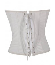 White Faux Leather Corset