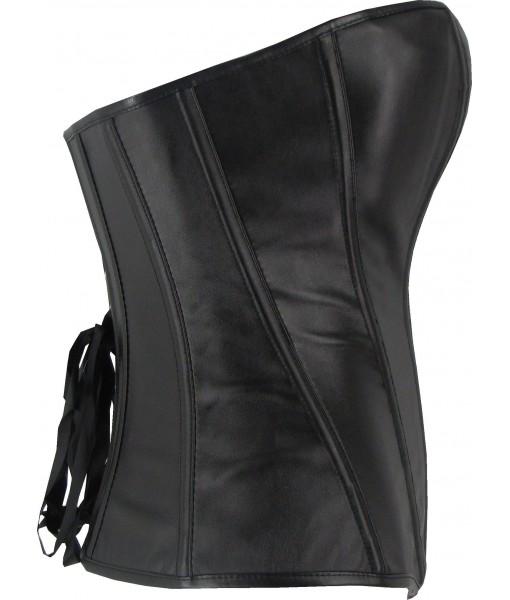 Black Faux Leather Corset