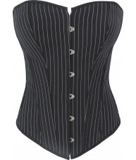 Black Corset With White Pinstripe