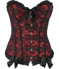 Red Victorian Sweetheart Corset Top