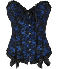 Blue Victorian Sweetheart Corset Top