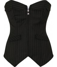 Scalloped Pinstripe Fashion Corset