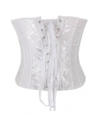 White Elizabethan Corset Overbust Top