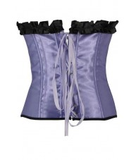 Purple Satin Corset With Pleats