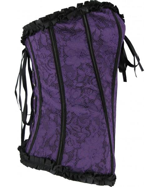Purple and Black Lace Corset