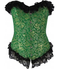 Green Corset with Gold Dragons