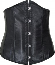 Antique Black Satin Underbust Corset
