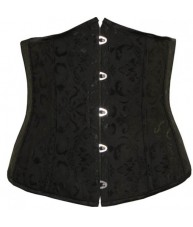 Black Underbust Corset Cincher Vintage Style