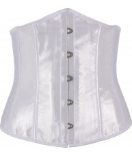 Antique White Satin Underbust Corset