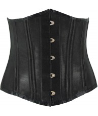 Black Corset Underbust Pointed Victorian Cincher Satin Finish Heavy Duty (Waist Trainer)