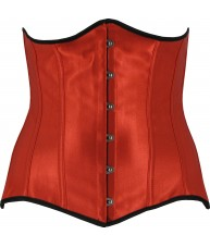 Steel Boned Red Underbust Corset Belt