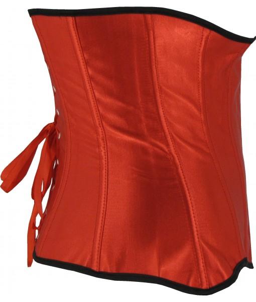 Steel Boned Red Underbust Corset Belt