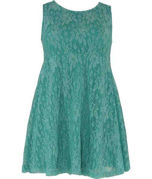 Mint Green Lace Skater Dress