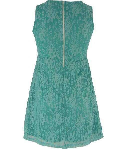 Mint Green Lace Skater Dress