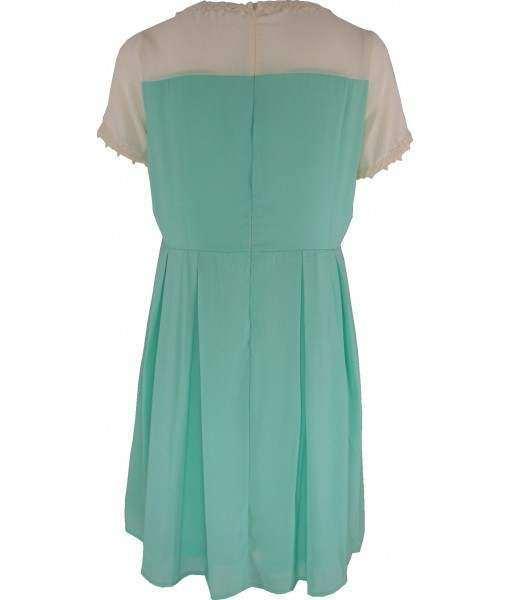 Mint Green & Ivory Swing Dress