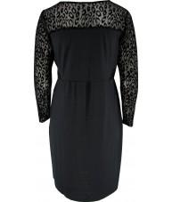 Black Leopard Sheath Dress