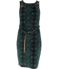 Green Black Ikat Bodycon Dress