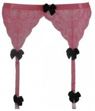 Pink Garter Belt With Black Bows