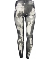 Faded Dark Grey And White Jeggings