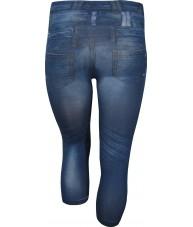 Faded Blue 3/4 Length Jeggings