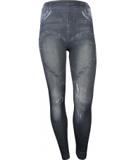 Dark Grey Jeggings With Love Heart Across Thighs