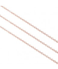 Simple Cuban Rose Gold Link Chain Necklace
