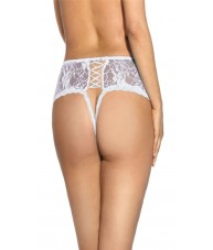 High Waisted White Floral Lace Knickers