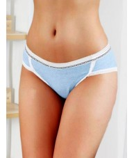 "Girls Every Day ""Nice"" Blue Cotton Underwear"