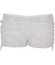 White Frilly Lace Burlesque Knickers