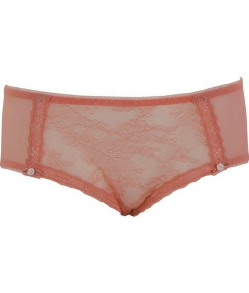 Victorian Lace Briefs By René Rofé In Peach