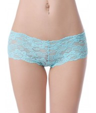 Sheer Blue Floral Stretch Lace Shorties