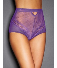 Ladies High Waisted Sexy Purple Knickers