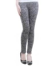 Gorgeous Leopard Print Leggings Grey