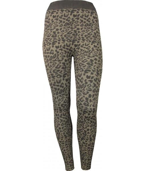 Gorgeous Leopard Print Leggings Brown
