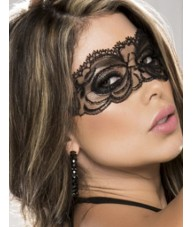 Beautiful Black Masquerade Lace Style Mask