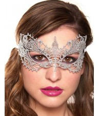 Silver Eye Mask Noble Masquerade Ball Costume