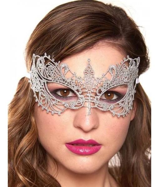 Silver Eye Mask Noble Masquerade Ball Costume