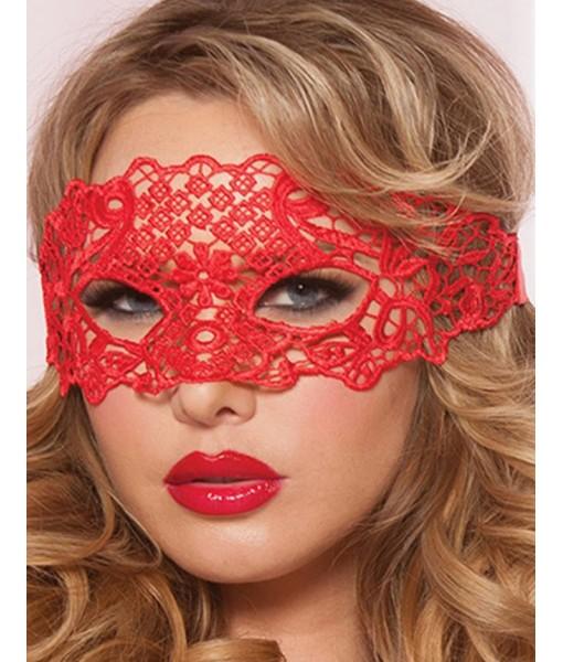 Enchanting Red Lace Style Eye Mask