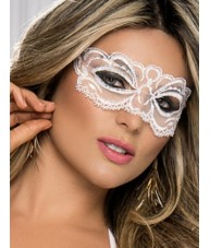Beautiful White Masquerade Lace Style Mask