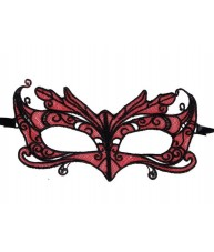 Black & Red Butterfly Lace Style Eye Mask