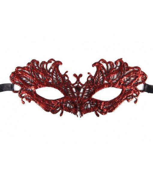 Enchanting Red Lace Masquerade Eye Mask