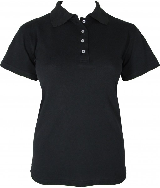 Women's Black Polo Shirt