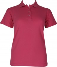 Women's Dark Pink Polo Shirt