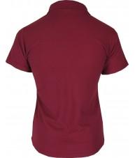 Women's Burgundy Red Polo Shirt